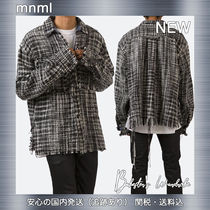 MNML Other Plaid Patterns Low Gauge Street Style Long Sleeves
