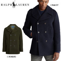POLO RALPH LAUREN Plain Peacoats Coats