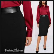 Lipsy Pencil Skirts Casual Style Plain Medium Elegant Style