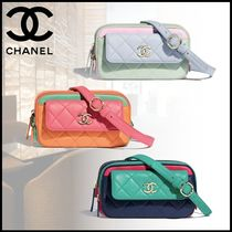 CHANEL Casual Style Party Style Elegant Style Hip Packs