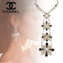 CHANEL Costume Jewelry Cross Party Style With Jewels Elegant Style