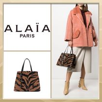 Azzedine Alaia Zebra Patterns Casual Style A4 2WAY Other Animal Patterns
