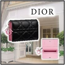 Christian Dior Lambskin Logo Card Holders