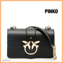 PINKO Casual Style Plain Leather Party Style With Jewels