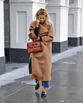 TOTEME Wool Cashmere Street Style Plain Long Wrap Coats
