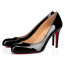 Christian Louboutin Plain Toe Plain Leather Pin Heels Party Style Office Style