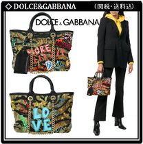 Dolce & Gabbana Casual Style Studded 2WAY Chain Other Animal Patterns Totes