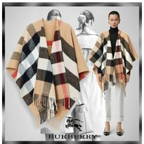 Burberry Tartan Wool Cashmere Ponchos & Capes