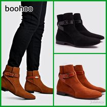 boohoo Suede Street Style Boots