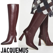 JACQUEMUS Plain Leather High Heel Boots