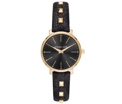 Michael Kors Casual Style Unisex Round Quartz Watches Stainless