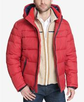 Tommy Hilfiger Short Unisex Street Style Bi-color Plain Down Jackets