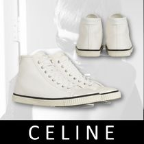 CELINE Unisex Street Style Plain Leather Sneakers