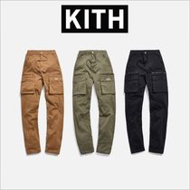KITH NYC Tapered Pants Unisex Street Style Plain Cotton Khaki