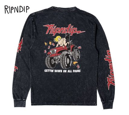 Street Style Long Sleeves Long Sleeve T-shirt Skater Style
