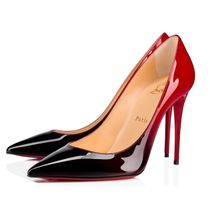 Christian Louboutin Plain Leather Pin Heels Party Style Elegant Style