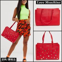 Love Moschino Faux Fur Studded Totes