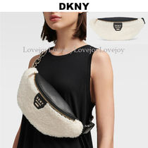 DKNY Casual Style Chain Elegant Style Shoulder Bags