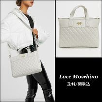 Love Moschino Faux Fur 2WAY Plain Totes