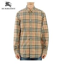 Burberry Unisex Street Style Long Sleeves Shirts