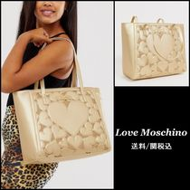 Love Moschino Heart Faux Fur Studded Totes