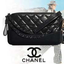 CHANEL Casual Style Calfskin Chain Plain Party Style Clutches