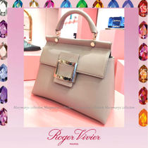 Roger Vivier Casual Style Plain Leather Office Style Elegant Style
