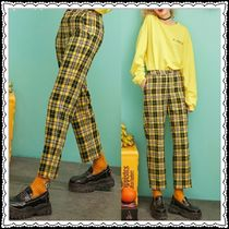 ELF SACK Other Check Patterns Casual Style Street Style Pants