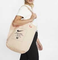 Nike Casual Style Unisex Canvas Street Style Plain Totes