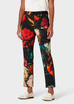 Paul Smith Printed Pants Flower Patterns Casual Style Wool Nylon