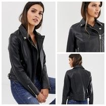 Barneys New York Casual Style Unisex Suede Leather MA-1 Souvenir Jackets