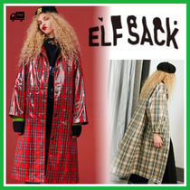 ELF SACK Casual Style Street Style Long Office Style Oversized