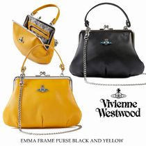 Vivienne Westwood Casual Style Lambskin Blended Fabrics 2WAY Chain Plain