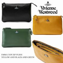 Vivienne Westwood Casual Style Lambskin Blended Fabrics Plain Leather