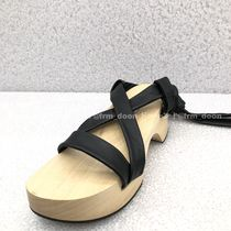 Jil Sander Open Toe Platform Plain Platform & Wedge Sandals