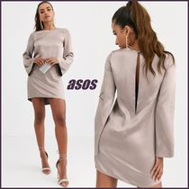 ASOS Short Long Sleeves Plain High-Neck Dresses