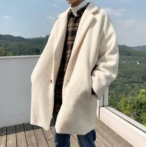 Street Style Bi-color Long Chester Coats