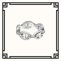 HERMES Chaine dAncre Unisex Party Style Silver Elegant Style Pinkie Ring Rings