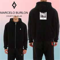 Marcelo Burlon Unisex Long Sleeves Hoodies