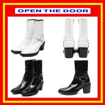 OPEN THE DOOR Casual Style Street Style Plain Ankle & Booties Boots