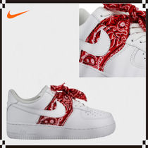 Nike AIR FORCE 1 Casual Style Unisex Street Style Leather Handmade Logo