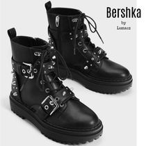 Bershka Casual Style Plain With Jewels Ankle & Booties Boots
