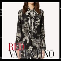 RED VALENTINO Silk Long Sleeves Elegant Style Shirts & Blouses