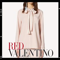 RED VALENTINO Silk Long Sleeves Medium Elegant Style Shirts & Blouses