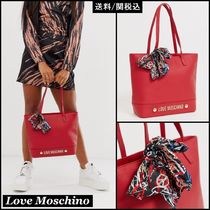 Love Moschino Faux Fur Plain Totes