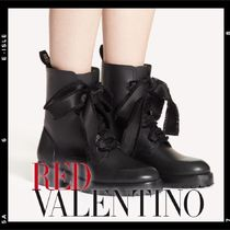 RED VALENTINO Rubber Sole Leather Elegant Style Boots Boots