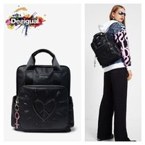 Desigual Heart Casual Style Backpacks