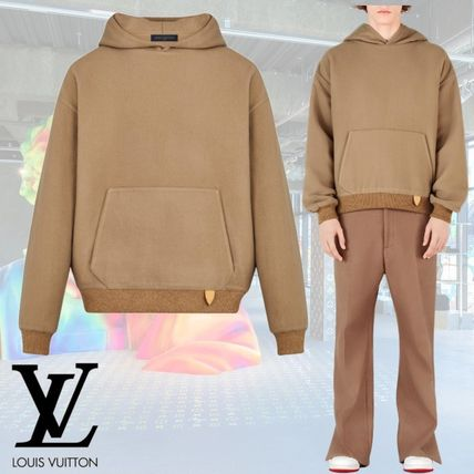 Louis Vuitton Hoodies Wool Cashmere Long Sleeves Plain Leather Hoodies
