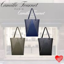 Camille Fournet Casual Style Unisex Street Style A4 2WAY Leather Handmade