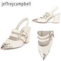 Jeffrey Campbell Casual Style Plain Other Animal Patterns Leather